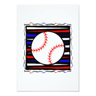 Red white and blue baseball card