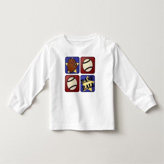 Red, White, and Blue Baseball Toddler T-shirt