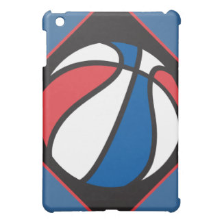 red white and blue basketball iPad mini case