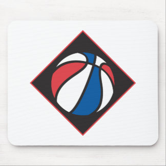 red white and blue basketball mouse pad