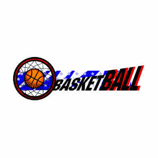 Red White and Blue Basketball Photo Cut Out