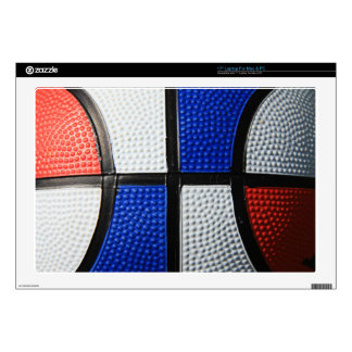 """Red White And Blue Basketball Decal For 17"""" Laptop"""