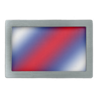 Red, White and Blue Rectangular Belt Buckles