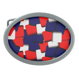 Red White and Blue Belt Buckles