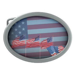 Red White And Blue Belt Buckle