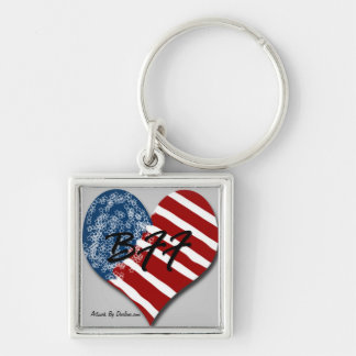 Red White and Blue BFF Keychain