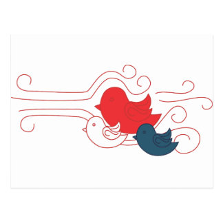 Red White and Blue Birds Postcards