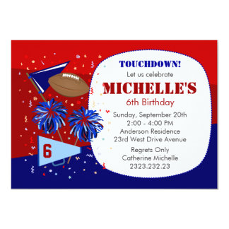 Red, White and Blue Birthday Invitation