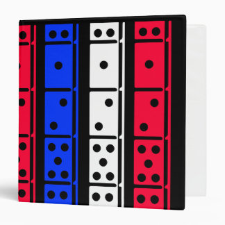 Red White and Blue Black Back Dominos Binder