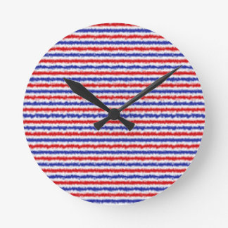 Red, White and Blue Blur Clock