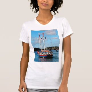 Red, White and Blue Boat at St. Thomas T-Shirt