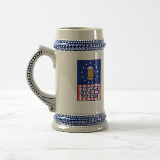 Red White And Blue Brewer Beer Stein
