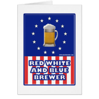 Red White And Blue Brewer Card