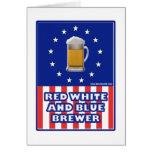 Red White And Blue Brewer Greeting Card