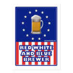 Red White And Blue Brewer Large Business Card