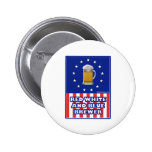 Red White And Blue Brewer Pinback Buttons