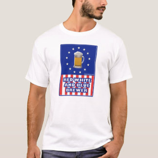Red White And Blue Brewer T-Shirt