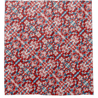 Red White Blue Shower Curtains Zazzle