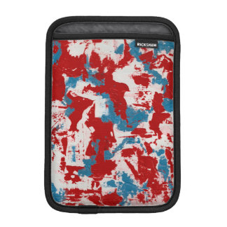 Red, White and Blue Brushstrokes Sleeve For iPad Mini