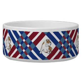 Red White and Blue Bulldog Bowl