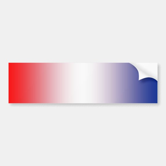 Red, white and blue bumper sticker