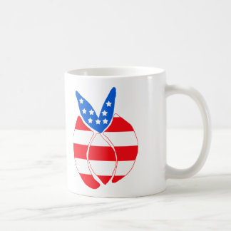 Red, White and Blue Bunny Mug