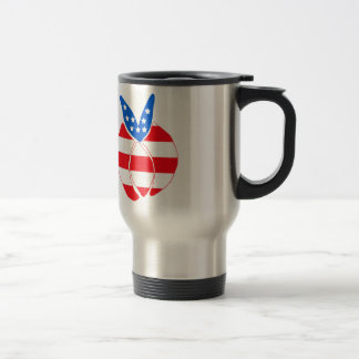 Red, White and Blue Bunny Coffee Mugs