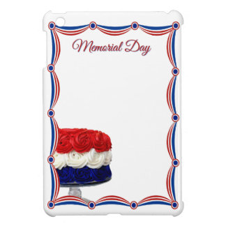 Red White and Blue Bunting Cake Memorial Day iPad Mini Cases