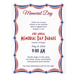 Red White and Blue Bunting Memorial Day Custom Flyer
