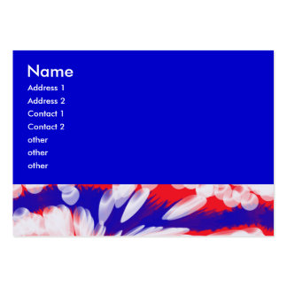 red white and blue business card templates