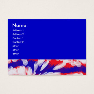red white and blue, business card