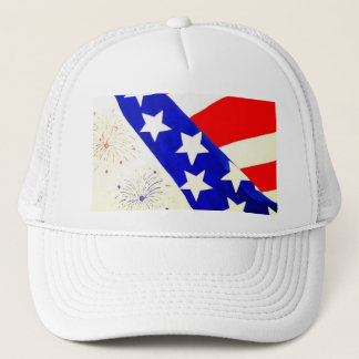 """Red, White and Blue"" by Linda Powell~Original Hat"