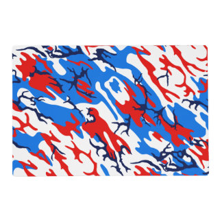 Red White and Blue Camo Placemat