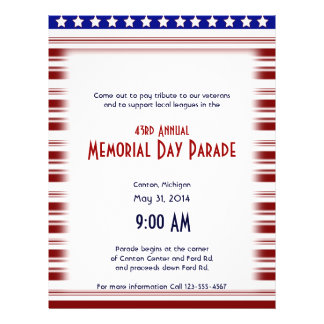 Red White and Blue Candystripe Memorial Day Flyer