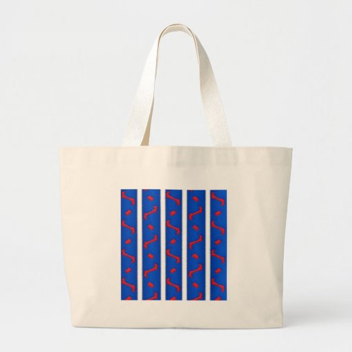 Red White and Blue Canvas Bags