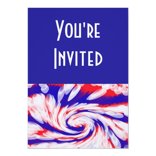red white and blue card