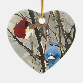 Red, White and Blue Ceramic Ornament