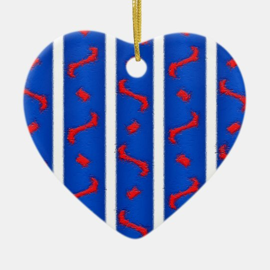 Red White and Blue Ceramic Ornament