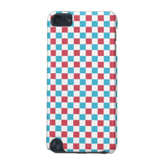 Red, White, and Blue Checkered iPod Touch (5th Generation) Cases