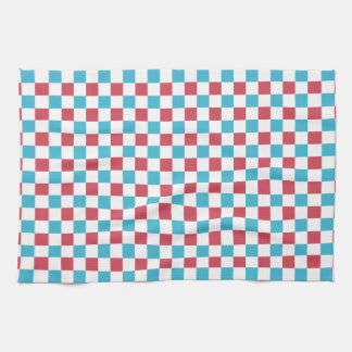 Red, White, and Blue Checkered Towel
