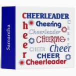 Red, White, and Blue Cheerleader Binder