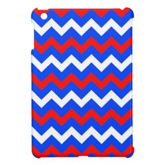 Red, White and Blue Chevron iPad Mini Case