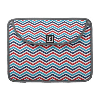Red, White, and Blue Chevron Pattern MacBook Pro Sleeves