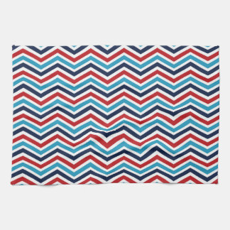 Red, White, and Blue Chevron Pattern Towel