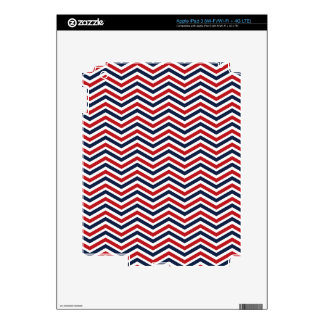 Red White and Blue Chevron iPad 3 Decals
