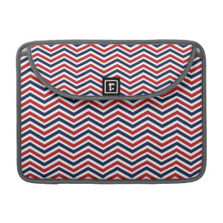 Red, White, and Blue Chevron Sleeve For MacBooks