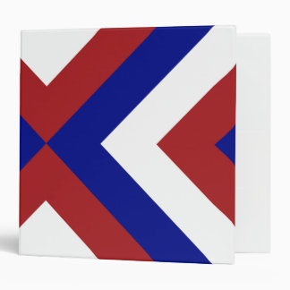 Red, White, and Blue Chevrons 3 Ring Binder