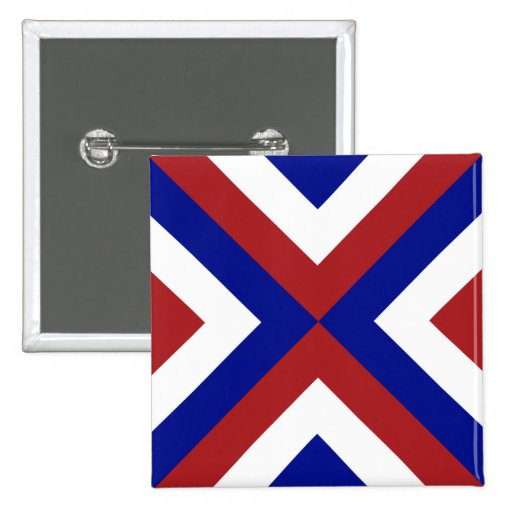 Red, White, and Blue Chevrons Button
