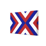 Red, White, and Blue Chevrons Stretched Canvas Prints