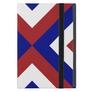 Red, White, and Blue Chevrons Case For iPad Mini